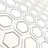 Glossy hexagon segments as abstract background Royalty Free Stock Photography