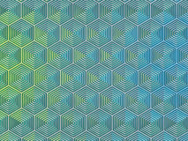Glossy hexagons Royalty Free Stock Image