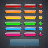 Glossy high-detailed buttons. Stock Images