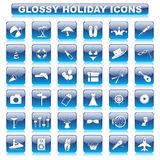 Glossy Holiday Button Royalty Free Stock Photography