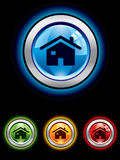 Glossy home button Royalty Free Stock Images