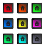 Glossy home buttons Stock Photography