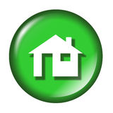 Glossy home icon Stock Photography