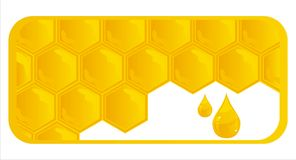 Glossy honeycombs banner Royalty Free Stock Photography