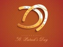 Glossy horseshoes for Happy St. Patricks Day celebration. Stock Photography