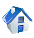Glossy house icon Stock Photography