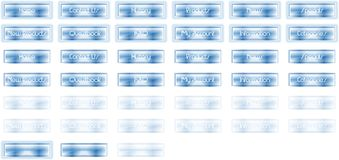 Glossy Ice Buttons Royalty Free Stock Photo