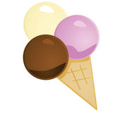 Glossy ice cream Royalty Free Stock Images