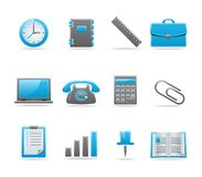 Glossy icon set Stock Images