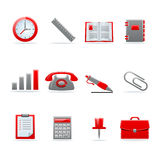 Glossy icon set. Set of 12 glossy web icons. Shopping, business and money icon set. Part 3. (see other in my portfolio Stock Image