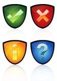 Glossy icon set royalty free illustration