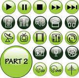 Glossy Icon Set music - PART 2 Royalty Free Stock Images