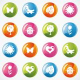 Glossy Icon Set for Web Royalty Free Stock Photography
