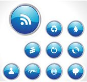 Glossy Icon Set for Web Applications Stock Photo