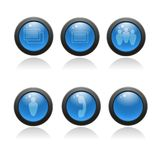 Glossy icon set for web applications. Royalty Free Stock Photography