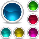 Glossy icons Stock Photography