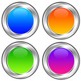 Glossy icons Royalty Free Stock Photography