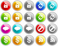 Glossy Icons Royalty Free Stock Photos