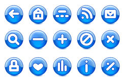 Glossy icons. Buttons arrows. All elements are separate objects and grouped. File is made gradient and mesh. No transparency Stock Illustration