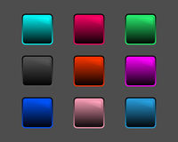 Glossy icons. Especially suited for dark backgrounds Vector Illustration