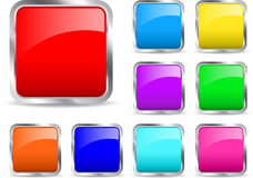 Glossy icons Royalty Free Stock Image