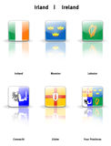 Glossy  icons Ireland Royalty Free Stock Image