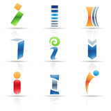 Glossy Icons for letter I Royalty Free Stock Photography