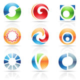 Glossy Icons for letter O Royalty Free Stock Images