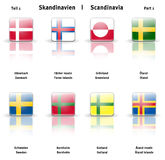 Glossy  icons Scandinavia (Part 1) Royalty Free Stock Photos