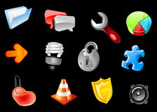 Glossy icons for web design Stock Image