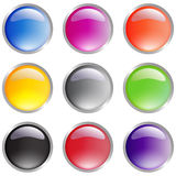Glossy Icons for web & print Royalty Free Stock Photos