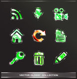 Glossy icons Royalty Free Stock Images