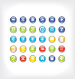 Glossy icons for your website. Vector illustration Stock Photos