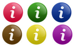 Glossy Info Button Stock Images
