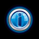 Glossy info button Royalty Free Stock Photo