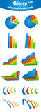 Glossy infographic elements. To represent your data in good form Royalty Free Stock Photo
