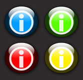 Glossy information buttons Royalty Free Stock Photos