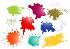 Glossy ink splatters Stock Photography