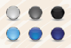 Glossy Interface Icons Royalty Free Stock Photography