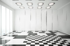 Glossy interior. Modern glossy interior with patterned walls, floor and ceiling. 3D Rendering Royalty Free Stock Photos