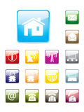 Glossy internet button set Royalty Free Stock Images