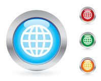 Glossy internet button set Royalty Free Stock Photography