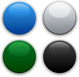 Glossy internet buttons Stock Photo