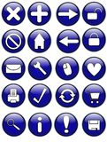 Glossy Internet Buttons Stock Photography