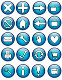 Glossy Internet Buttons Stock Image