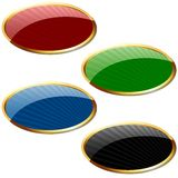 Glossy Label with Stripes Royalty Free Stock Image