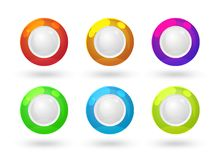 Glossy labels. With placeholders for your test, EPS10 vector Royalty Free Stock Images