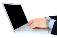 Glossy laptop Royalty Free Stock Photos