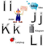 Glossy letters-stickers. Royalty Free Stock Photography