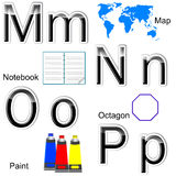 Glossy letters-stickers. Stock Image